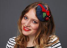 Jeans Hütchen Cherry love Kirschen Samtschleife von Billies goes Jazzafine auf DaWanda.com