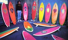 The penultimate late 70's high performance quiver!!