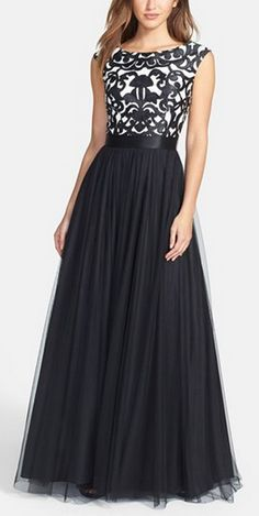 Gorgeous embroidered bodice mesh ballgown http://rstyle.me/n/tvxrwn2bn @nordstrom #nordstrom
