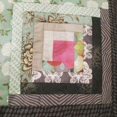 Log Cabin #patchwork #quiltergirl #amateurquilter #justforfun