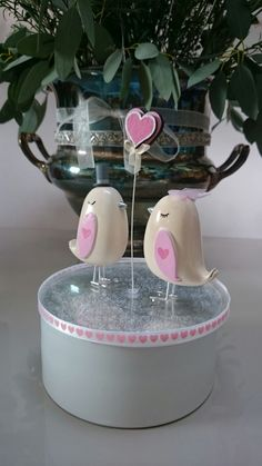 Love Bird Wedding Cake Topper - Baby Pink Theme by TheModelWedding on Etsy
