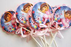 Dora Ballerina Cupcake Toppers by outsidetheboxdessert on Etsy, $12.00