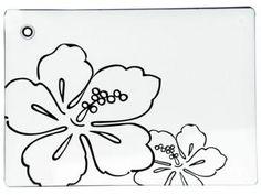 Tábua de Petiscos em Vidro - Mor Vitra Black And White 8023