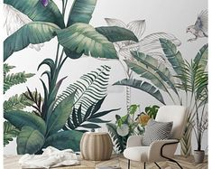 Tropical Rainforest Wallpaper, Southeast Asia Huge Trees and Plants Wall Mural, Living Room or Bedroom Wallpaper Wall Murals - Southeast Asia tropical rainforest wallpaper Wallpaper Wall, Plant Wallpaper, Custom Wallpaper, Photo Wallpaper, Bedroom Wallpaper, Forest Wallpaper, Kawaii Wallpaper, Pastel Wallpaper, Disney Wallpaper