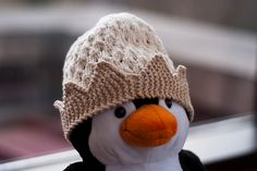 lovely knitted crown hat