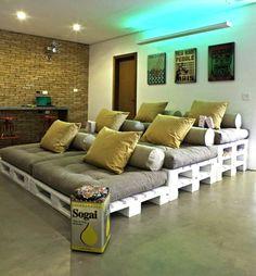 sofa hecho con pallets
