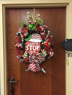 Work door wreath... this was such a fun one to make!