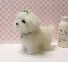 Needle felt Needle felting dog Needle felted dog by FeltTale
