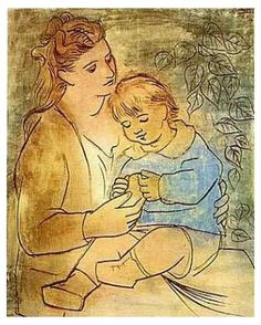 """""""Mother and Child"""", Picasso (1922)"""