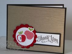Apples and woodgrain impressions folder. Stampin' Up! Perfectly Preserved