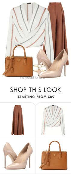 """Cut"" by stylish1475 ❤ liked on Polyvore featuring Zimmermann, Massimo Matteo, Prada and Accessorize"