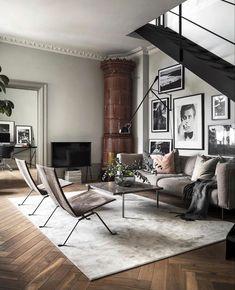 38 Scandinavian Living Room Design for Best Home Decoration Home Interior, Living Room Interior, Living Room Decor, Bathroom Interior, Living Room Stairs, Ikea Interior, Nordic Interior, Living Room Flooring, Small Living Rooms