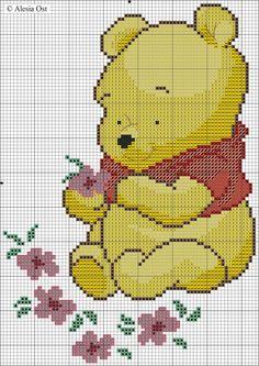 Cross Stitch Mania: Baby Winnie The Pooh Free Cross Stitch Chart