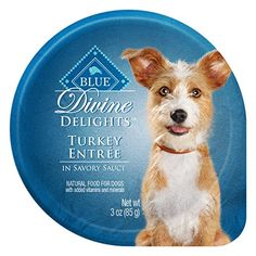 Blue Buffalo Divine Delights Turkey in Sauce Wet Dog Food, 3 oz, Pack of We love our dogs and cats like family so we want to feed them with the same care as family. That's why BLUE is made with only the finest natural ingredients. Canned Dog Food, Wet Dog Food, Us Images, Small Dogs, Poultry, Dog Food Recipes, Buffalo, Dog Cat, Turkey