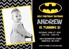 Batman Birthday Party Invitation  Printable by KidsPartyPrints. , via