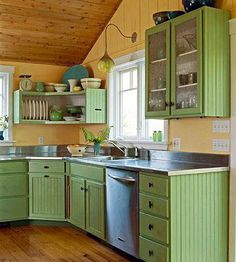 Green and yellow kitchen cabinets yellow kitchen walls small kitchen designs in yellow and green colors . green and yellow kitchen cabinets Yellow Kitchen Designs, Yellow Kitchen Walls, Green Kitchen Cabinets, Kitchen Wall Colors, Kitchen Cabinet Design, Kitchen Paint, Yellow Walls, White Cabinets, Yellow Cupboards