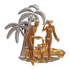 Tropical Escape Ultra Craft pin Lady on Island