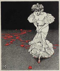 Illustration by German/Austrian artist, Karl Alexander Wilke 1906 Art Nouveau, Macabre, Dark Art, Golden Age, Erotica, Les Oeuvres, Illustrators, Cool Art, Horror