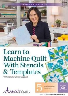 Learn to Machine Quilt With Stencils & Templates: 5 Projects, Patterns: Skill Level: Confident Beginner (DVD video) - 18148744 - Overstock - Great Deals on Quilting - Mobile