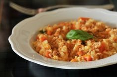 Basil Mozzarella Tomato Rosotto from great-chicago-italian-recipes.com