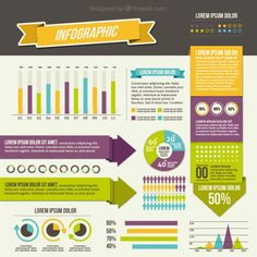 Variedade de elementos infográfico Vetor grátis