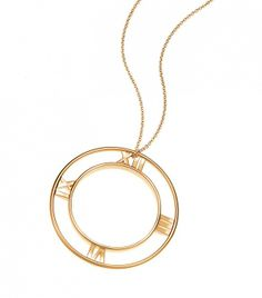 Atlas Round Pendant in 18k gold by @Tiffany & Co. - want to wear this with everything