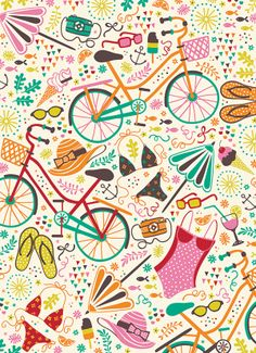 Seaside Cycle by Anna Deegan, via Behance