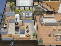 Sims 2 House, Sims 4 House Plans, Sims 4 House Building, Sims 4 House Design, House Floor Plans, Casas The Sims Freeplay, Sims Freeplay Houses, Sims Free Play, Casas The Sims 4