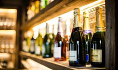 New bar filled with champagne, a selection of wines, beer, spirits and soft drinks ALL included in your stay St Anton, Ski Holidays, Open Fireplace, Ski Chalet, Open Plan Living, Austria, Wines, Skiing, Champagne