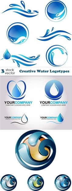 Vectors - Creative Water Logotypes