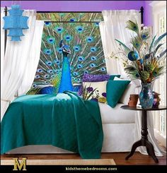 #fabulous - peacock inspiration, table decor, colorful #peacock, unique playful