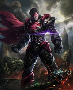 Man of Steel, Dark Superman Evil Superman, Mundo Superman, Superman Man Of Steel, Superhero Superman, Superman Symbol, Superman Stuff, Doomsday Superman, Goku Vs Superman, Batman Batman