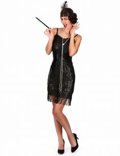 Charleston-Kostüm für Damen Costume Charleston, Vestido Charleston, Great Gatsby Party, Gatsby Theme, Gatsby Style, Cabaret, Flapper Outfit, Belle Costume, Gatsby Dress