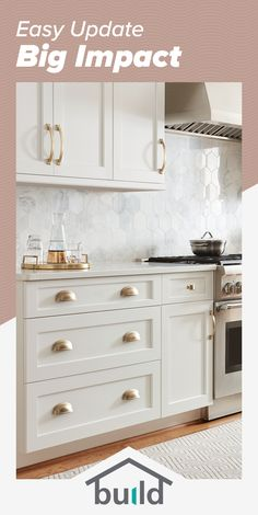 The best selection in home improvement is all in one place. Shop the styles and finishes you love, and discover products you won't find anywhere else. Kitchen Redo, Home Decor Kitchen, Kitchen Interior, New Kitchen, Home Kitchens, Kitchen Dining, Kitchen Remodel, Kitchen Cabinets, Design Kitchen