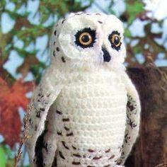 Amigurumi Plush Owl Knitting Pattern, Owl Crochet Patterns, Crochet Birds, Bird Patterns, Cute Crochet, Vintage Crochet, Crochet Toys, Crochet Teddy, Vintage Knitting