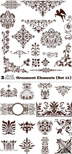 Vectors - Ornament Elements (Set 11)
