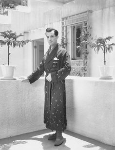 """summers-in-hollywood: """"Ramon Novarro at his home, 1930s """""""