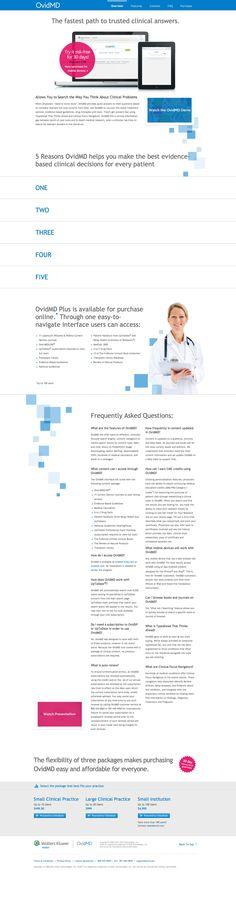 Wolters Kluwer - Shop OvidMD website design