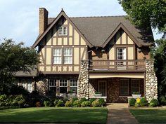 Beautiful Tudor Style Home, Forest Park, Birmingham, Alabama by Cougar_6, via Flickr