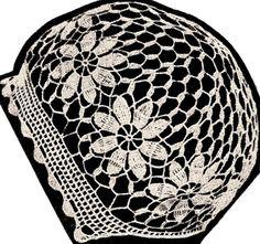 Vintage Antique Baby Cap Hat Bonnet Crochet Pattern Flower