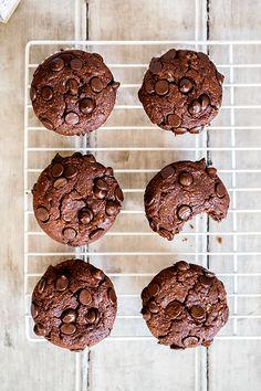 ... dark chocolate muffins ...