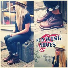Red Wings 8111 Iron Rangers in Amber Harness