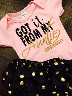 Adorable glitter font onesies, the perfect gift for moms to be!