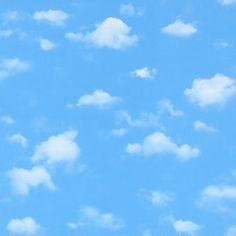 Clásico cielo azul con nubes.,