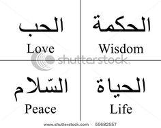 love, wisdom, peace, life