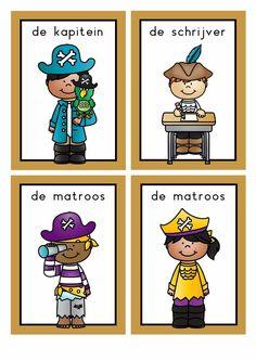 themahoek piraten School, Boys, Prints, Fictional Characters, Water, Pirates, Baby Boys, Gripe Water, Senior Boys