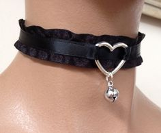 Collar Choker by TheKittenCollection on Etsy https://www.etsy.com/listing/261164591/customizable-simple-heart-baby-doll