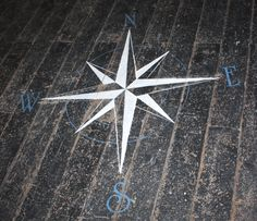 How to Paint A Floor Compass...