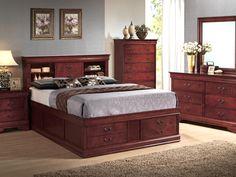 Queen Bed Frames With Storage esmeralda luxury bed - king platform storage bed, bed frame