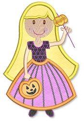 Pumpkin Princess App 2 Sizes | Halloween | Machine Embroidery Designs | SWAKembroidery.com Lynnie Pinnie